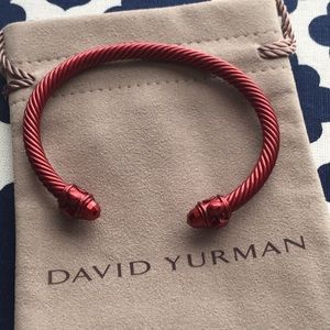 David Yurman limited edition red aluminum bracelet
